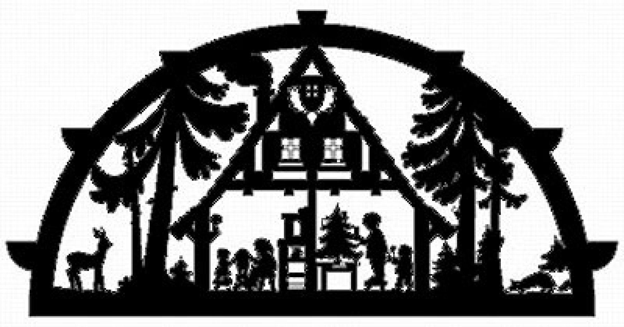 Schwibbogenvorlage Waldhaus