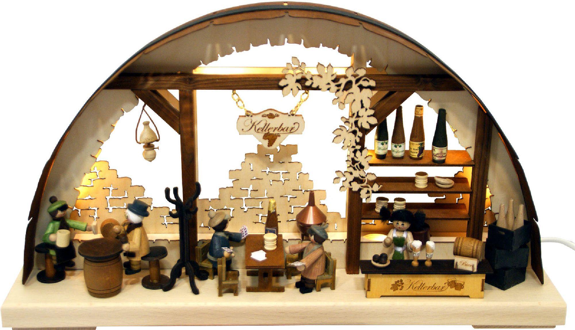 Schwibbogen modern Kellerbar