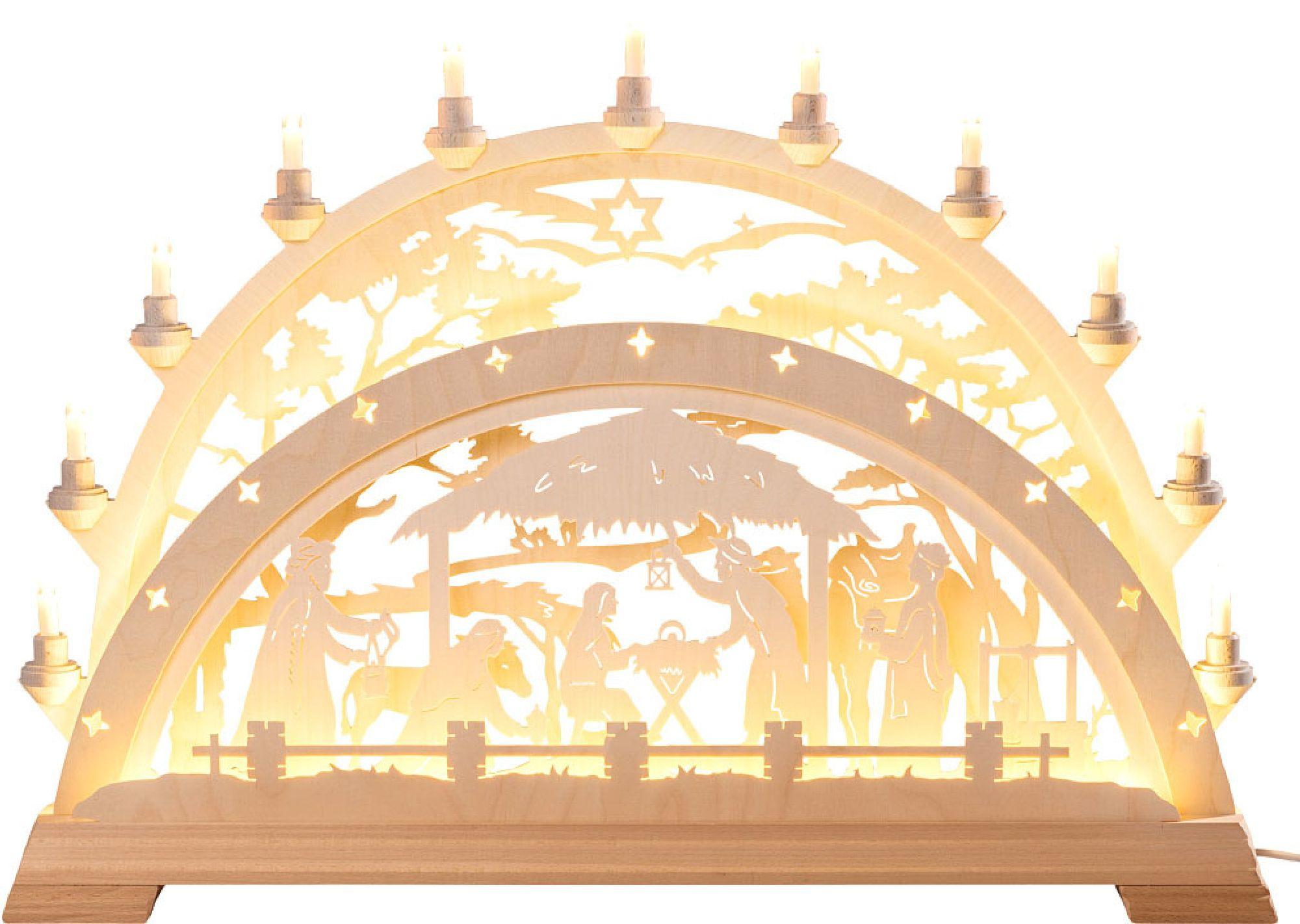 Schwibbogen Holz Christi Geburt