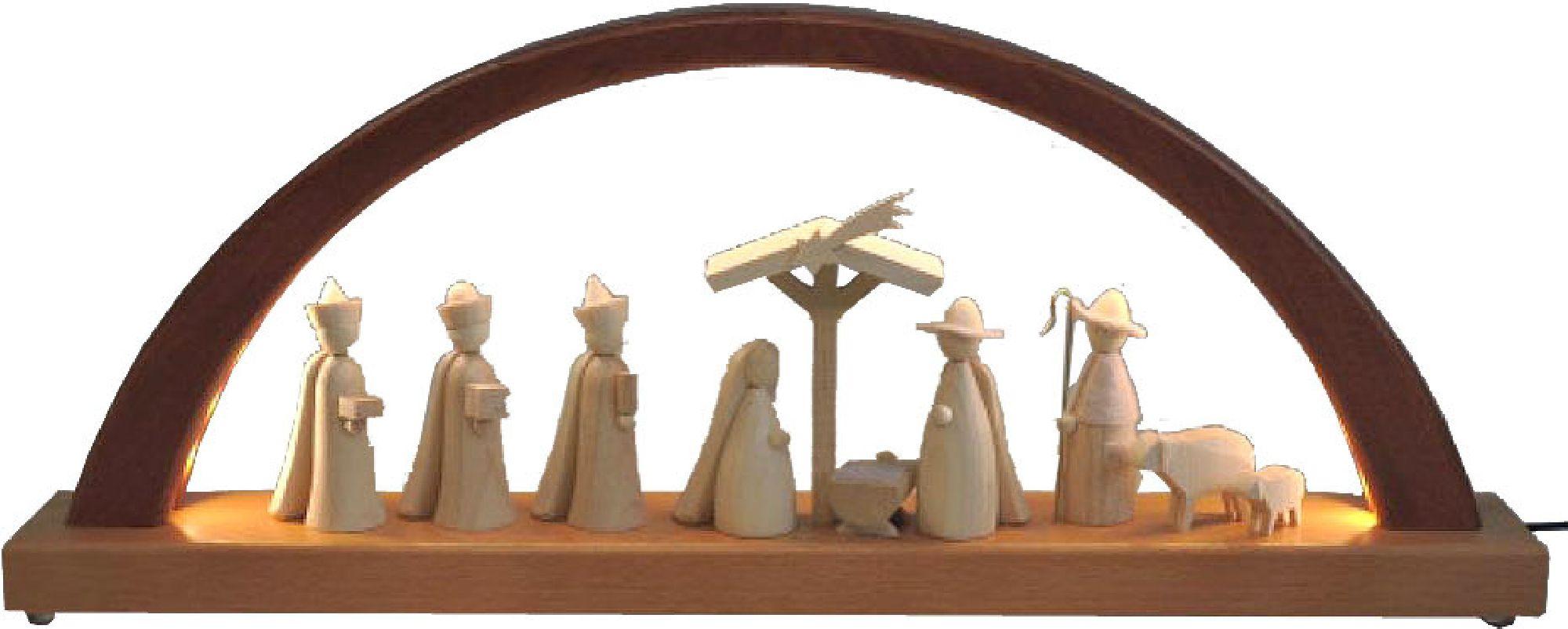 Schwibbogen LED neues Design Christi Geburt
